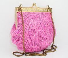 WALBORG Vintage Beaded Evening Bag