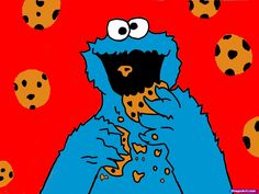 How to Draw Cookie Monster Step by Step Pbs Characters Cartoons Draw Cartoon Characters FR Cookie monster wallpaper Monster cookies Cookie monster drawing