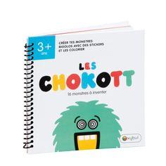 Dans ce carnet de stickers et coloriages Chokott, 16 silhouettes de monstres attendent que l'enfant leur donne vie. Il choisit un sticker pour les yeux, la bouche, les pieds ou les mains et d'éventuelles cornes. Chaque monstre Chokott est représenté à la fois en positif et en négatif. L'enfant peut créer deux versions très différentes. Il donne la touche finale en les coloriant. Les stickers sont repositionnables, rien n'est figé. Les monstres évoluent au fil du temps et de la créativité de…