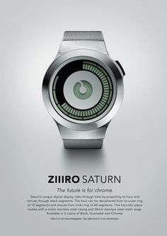 New digital watch – ZIIIRO Saturn Silver » Design You Trust