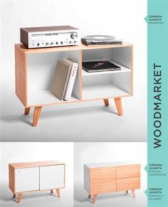 Wood Market Cute Furniture, Simple Furniture, Wood Furniture, Furniture Design, Wooden Workshops, Desks For Small Spaces, Ideias Diy, Wood Table, Interior Design Living Room