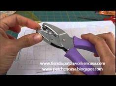 ▶ Cómo hacer Plantillas de Patchwork y marcar el punto de encuentro de costuras - YouTube