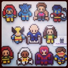 X-Men Marvel hama beads by diego_wop