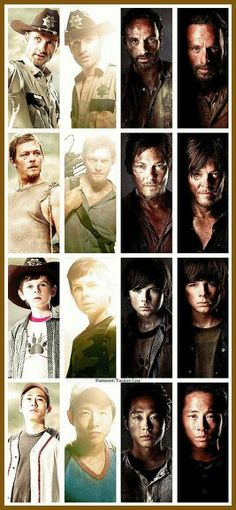 Rick Grimes - Andrew Lincoln, Daryl Dixon - Norman Reedus, Carl Grimes - Chandler Riggs, Glenn Rhee - Steven Yeun - AMC's The Walking Dead Walking Dead Zombies, Carl The Walking Dead, The Walk Dead, Walking Dead Tv Show, Walking Dead Memes, Random Walk, Chandler Riggs, Nerd, O Pokemon