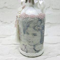 Bemalte Flaschen dekoriert einzigartige von Chiclaceandpearls