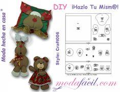 Patrones gratis - Modafacil Doll Clothes Patterns, Clothing Patterns, Reno, Calendar, Dolls, Christmas Ornaments, Holiday Decor, Home Decor, Google