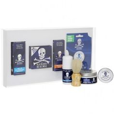 "A luxury collection of contemporary shaving products for the modern man! The Bluebeards Revenge 'Starter' Kit consists of a beard reducing shaving cream travel-sized post shave balm ""Doubloon"" shaving brush and silver Deodorant, Mens Shaving Cream, Best Shave, Shaving Razor, Hair Tools, Mens Gift Sets, Starter Kit, Revenge, The Balm"