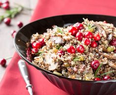 From our blog: Quinoa Stuffing with Cranberries and Rosemary -- This naturally gluten-free stuffing is fresh, tangy, and so pretty, with the tricolor quinoa and ruby-red cranberries. Feel free to play around with this, adding your favorite herbs or veggies (some chopped pecans would be delicious in there!)
