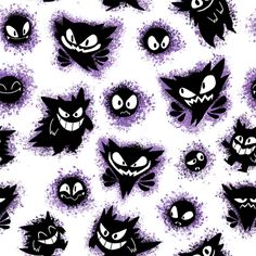 """sketchinthoughts: """" All pokemon tiles so far in one post for easy viewing… Haunter Pokemon, Ghost Pokemon, All Pokemon, Pokemon Fan Art, Wallpaper Kawaii, Ghost Type, Cartoon Video Games, Pokemon Tattoo, Pokemon Party"""