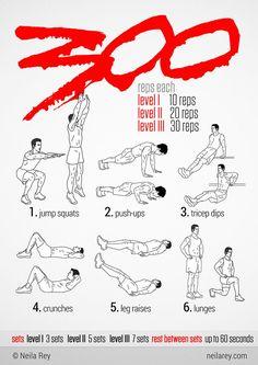Train like a Spartan and start looking for that six pack that the cast had on 300. Before you know it, you will be doing more than just this little workout and you will have the body of a Spartan.