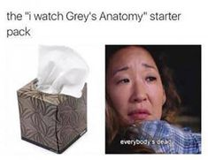 "The "" I watch Grey's Anatomy"" starter pack Greys Anatomy Spoilers, Greys Anatomy Season 1, Watch Greys Anatomy, Greys Anatomy Episodes, Greys Anatomy Funny, Greys Anatomy Facts, Greys Anatomy Characters, Grey Anatomy Quotes, Grays Anatomy"