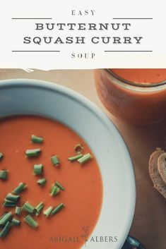 Are you looking for a yummy fall recipe that is easy and healthy? Try this butternut squash curry soup! #easyfallrecipe #fallsouprecipe #healthydinnerideas #easydinner #easyandhealthydinnerideas