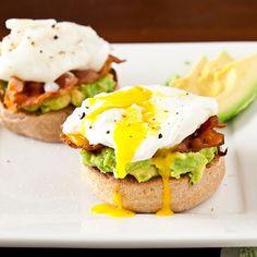 Avocado Eggs Benedict  ParadiseGroveAvocados.com
