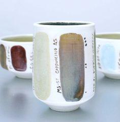 Glaze test ceramic tea cup