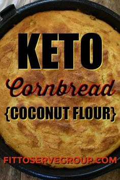 "Keto cornbread (coconut flour) it's a delicious low carb alternative to traditional cornbread. By using coconut flour in place of cornmeal you can enjoy a ""cornbread"" that is grain-free, gluten-free, nut-free and keto-friendly. Keto Corn Bread, Coconut Flour Bread, Almond Flour, Coconut Flour Tortillas, Keto Flour, Almond Bread, Zucchini Bread, Vegan Keto, Vegetarian Keto"