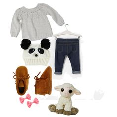 Baby girl outfit with lamby