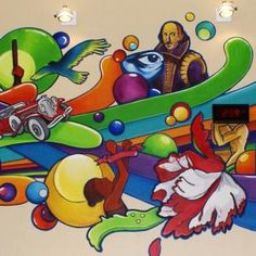 school library murals - Google Search