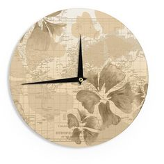 Alias Bigfoot Beige Brown Wall Clock Products Pinterest