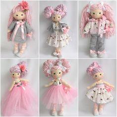 Crochet doll in pretty pastels. Inspiration.