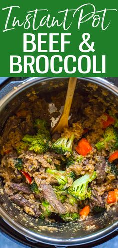 This Instant Pot Beef and Broccoli with Rice is a takeout-inspired 30-minute dinner idea that comes together with pantry staples. #beefandbroccoli #instantpot