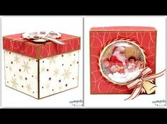 Świąteczny Exploding box - scrapbooking - tutorial DIY - YouTube