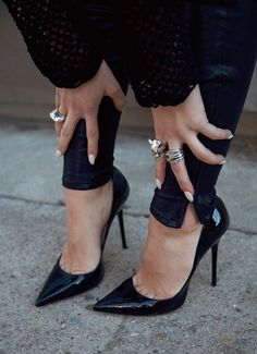 5422e05d3340 Jimmy Choo Abel Black Patent Leather Pointy Toe  Pumps.  outfit Crazy Shoes