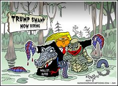 Trump lying to Carrier, Trump swamp, Trump's Rosie the Riveter, Working class democracy Political Cartoons, Political News, Trump Lies, Trump Train, Rosie The Riveter, Worlds Of Fun, Donald Trump, Politics