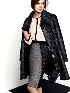 Woman wearing tweed jacket and leather gloves from BHS - autumn fashion - style advice - allaboutyou.com
