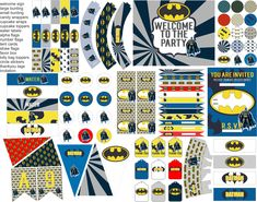 Batman party printables, Batman party decorations, everything you need for your Batman Birthday party