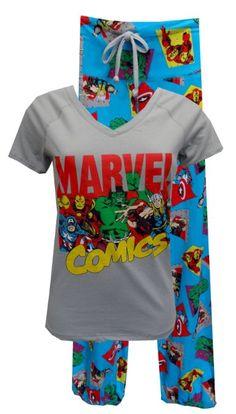 Amazon.com: Marvel Comics Avengers Cast Pajama Set for women: Clothing