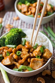 You're going to fall in love with this better than takeout cashew chicken! It's tender, flavorful and loaded with toasted cashews!