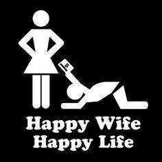 HAPPY WIFE HAPPY LIFE is a custom made funny top quality sarcastic t-shirt that is great for gift giving Love My Wife Quotes, Happy Wife Quotes, Love Your Wife, Life Quotes, Friend Quotes, Marriage Humor, Marriage Life, Happy Marriage, Wife Memes