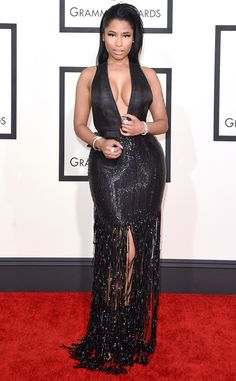 Nicki Minaj from Best Dressed at 2015 Grammys Where sexy meets style! The rapper worked the heck out of this plunging Tom Ford number.
