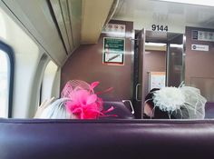 SQUAD NIGHT OUT (RACE DAY) - (Snap back-view POV of fascinators)