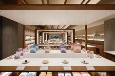 Sanpou Shogetsuteiさんぽう 招月庭 / 2017 Japanese Store, Retail Design, Store Design, Table Decorations, Projects, Shop, Home Decor, Image, Log Projects