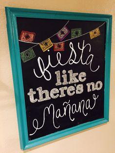 Cinco De Mayo Chalkboard Sign
