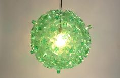 "Soda Bubble Chandelier green - This one sells for over 700 dollars but I think it's so unusual and cute, I'm going to figure out how to make one.""="