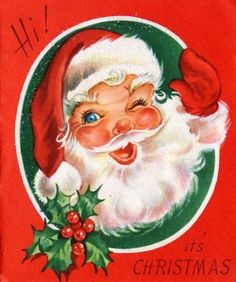 """""""Jolly ole St. Nicholas, lean your ear this way."""""""