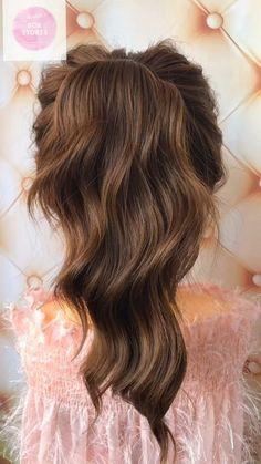 30 Easy & Quick vedio hair - My Stuff - Hochsteckfrisur Wedding Hairstyles For Long Hair, Pretty Hairstyles, Easy Hairstyles, Kids Hairstyle, Bun Hairstyle, Hairstyles Videos, Bridal Hairstyle, Medium Hair Styles, Curly Hair Styles