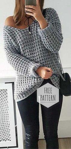 ideas knitting patterns free sweater jumpers crochet cardigan knitting crochet the home girl sweater crochet sweater pattern Easy Knitting, Knitting Patterns Free, Free Crochet Sweater Patterns, Sewing Patterns, Crochet Sweaters, Knit Sweater Patterns, Crochet Jumpers, Crochet Pullover Pattern, Jumper Knitting Pattern