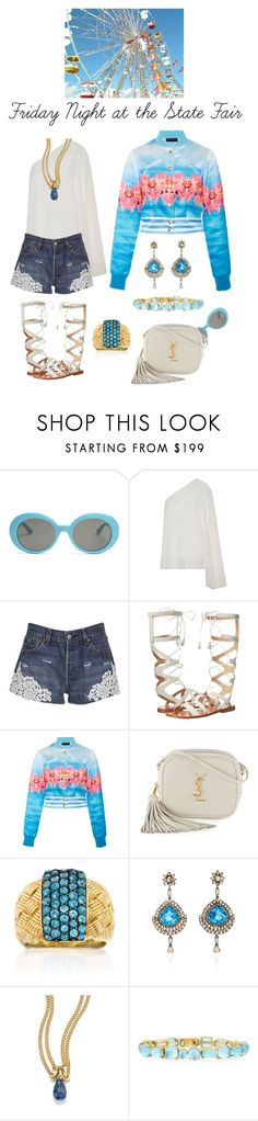 """""""Friday Night at the State Fair"""" by karen-galves on Polyvore featuring Yves Saint Laurent, Solace, Forte Couture, Frye, Ross-Simons, Sutra, Anthony by Anthony Camargo and Roberto Coin"""