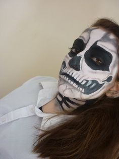 skeleton face paint tutorial
