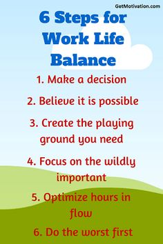 ShowCaseIt: 6 unbelievable steps to balance your work life for...