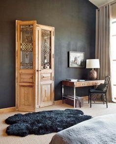 mooie kleur muur icm deur