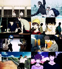These moments. Omg, the last picture though ;_; ~Zankyou no Terror