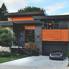 Stunning Modern Mansions - DuJour : See contemporary architecture inspiration, including a garage underneath a pool. See contemporary architecture inspiration, including a garage underneath a pool. Design Exterior, Modern Exterior, Stone Exterior, Exterior Colors, Roof Design, Contemporary Architecture, Interior Architecture, Black Architecture, Contemporary Design