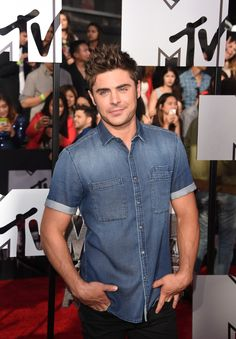 Zac Efron on the red carpet at MTV Movie Awards ~ April 13, 2014