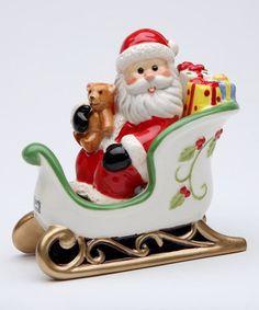 Santa & Sleigh Salt & Pepper Shaker #zulily #zulilyfinds