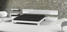 Colección PILEF. Dormitorio Acabado lacado blanco brillante