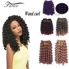 8 Inch High Quality Wand Curl Freetress Crochet Braid Hair Extension Kinky Marley Twist Hair Synthetic xpression Braiding Hair